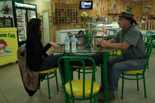 Chatting with Farmer Budd