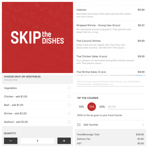 Skip the dishes app