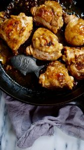 Chicken adobo with added iron