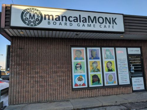 mancala monk cafe entrance