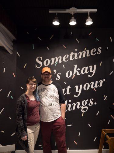 Matt and Charlotte Owner of WIllard's Ice Cream