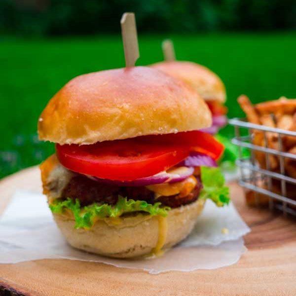 Braised Beef Burger from Heatherlea Farm