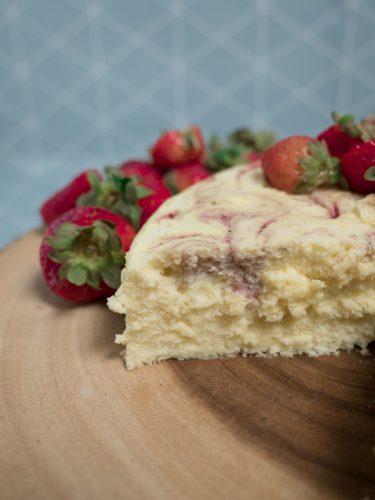 California Strawberries Marble Japanese Cheesecake