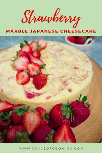 strawberry japanese cheesecake pinterest