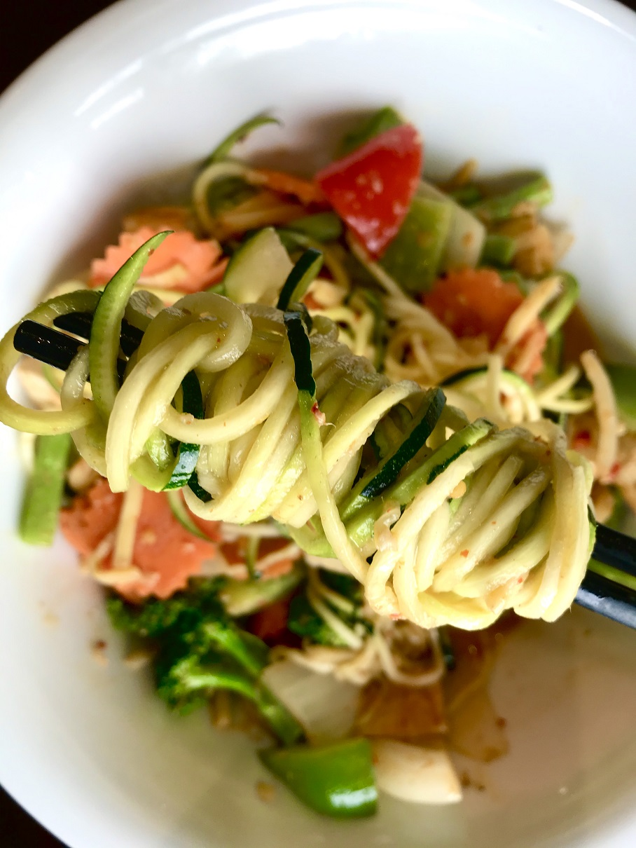 Vegetarian Coconut Curry with Zucchini Noodles