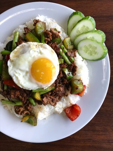Pad Kra Pao with Beef