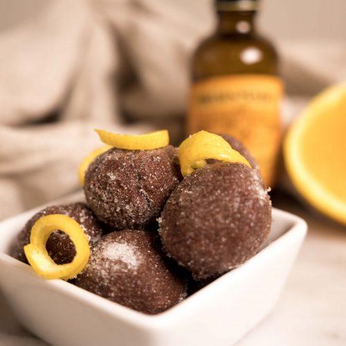 homemade holiday chocolate truffles