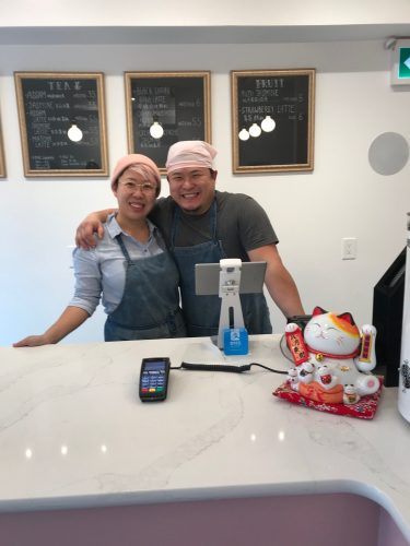 Jia and Peter, owner of my sweet tooth