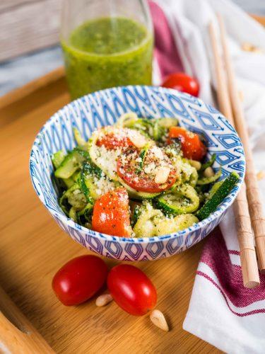 easy healthy zucchini pesto recipe