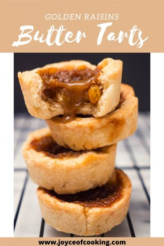 Golden Raisins Butter Tarts